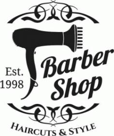 Barber Shop Logo Free DXF File