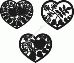 Heart Cage Heart Free DXF File