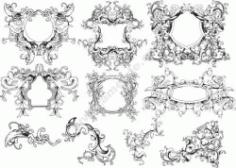 Ornament Borders Set Free DXF File