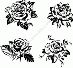 Rose Carving Free DXF File