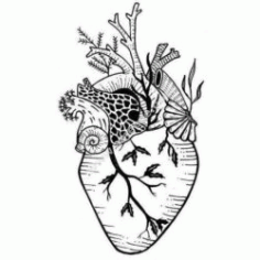 Anatomical Surreal Heart Garden Free DXF File