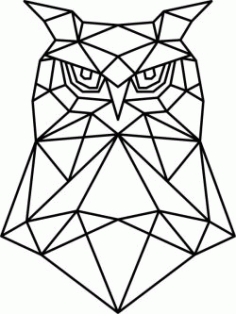 Artistic Owl Head Download For Laser Cut Plasma Free DXF File