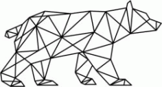 Artistic Polar Bear Download For Laser Cut Plasma Free DXF File