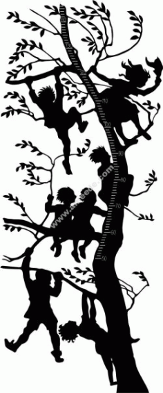 Children Height Tree Free DXF File