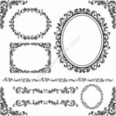 Decorative Contour Pattern Free DXF File