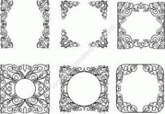 Decorative Frame Design Template Free DXF File