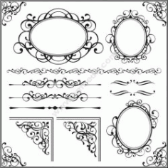 Decorative Frame 24 Free DXF File