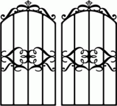 Form Iron Door Shaped Crown Download For Laser Cut Plasma Free DXF File