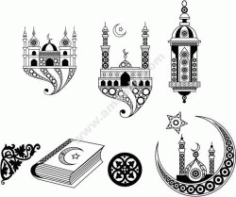 Islamic Art Free DXF File