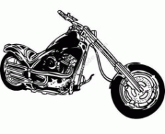 Motorcycle Free DXF File