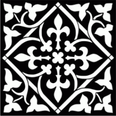 Pattern Printed On Ceramic Tiles Download For Laser Cut Cnc Free DXF File