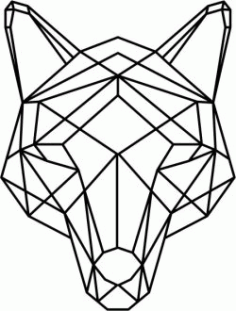 Wolf Head Art Download For Laser Cut Plasma Free DXF File