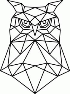 Artistic Owl Head Download For Laser Cut Plasma Free CDR Vectors Art