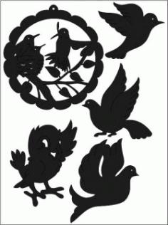 Bird Sticker Free CDR Vectors Art
