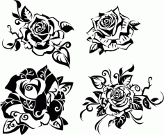 Beautiful Rose 4 Free CDR Vectors Art
