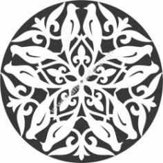 Bird Decorative Circles Free CDR Vectors Art