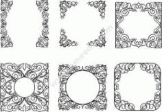 Decorative Frame Design Template Free CDR Vectors Art