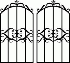 Form Iron Door Shaped Crown Download For Laser Cut Plasma Free CDR Vectors Art