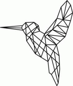 Hummingbird Art Download For Laser Cut Plasma Free CDR Vectors Art