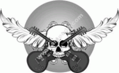 Icons Of Rock And Roll Background Free CDR Vectors Art
