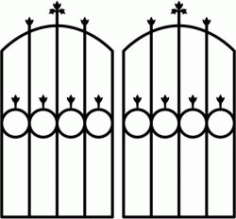 Iron Door Shaped Circle Download For Laser Cut Plasma Free CDR Vectors Art
