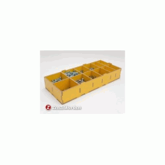 Compartment Storage Box Free DXF File