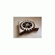 Gear Coasters Free DXF File