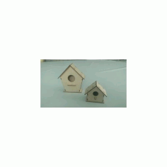 Laser Cut Birdhouse Free DXF File