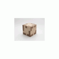 Puzzle Cube Laser Cut Free DXF File