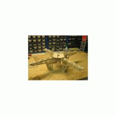 Quad Copter Frame Free DXF File
