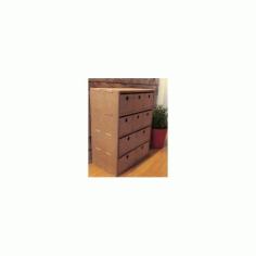 Small Dresser Storage Mdf 4mm 8mm Free DXF File