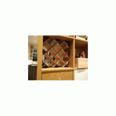 Wine Rack For Ikea Kallax Free DXF File
