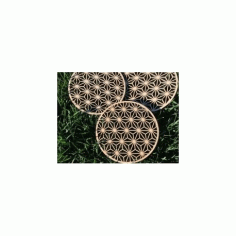 Wooden Trivet Asanoha Free DXF File
