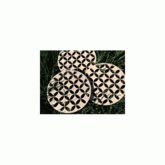 Wooden Trivet Shippo Free DXF File