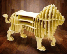 Lion Shelf Download For Laser Cut Cnc Free CDR Vectors Art