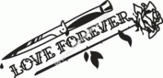 Love Forever Free CDR Vectors Art