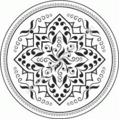 Mandala Flower Free CDR Vectors Art