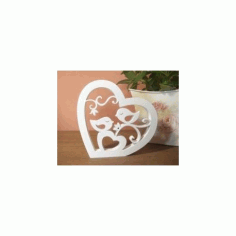 Birds In Heart Free DXF File