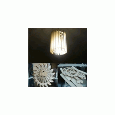 Chandelier Lamp Free DXF File