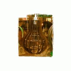 Lamp 3d Puzzle Cnc Plan Free DXF File
