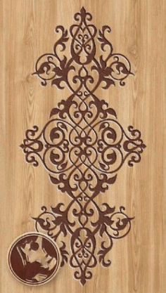 Ornament design For Laser Cut Free CDR Vectors Art