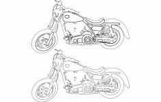 Motorcycle Pair Free DXF File