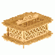 Storage Basket Lasercut Free DXF File