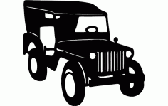 Willys Jeep Free DXF File
