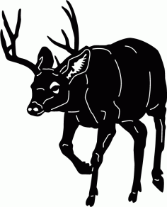 Animals Moose Free DXF File