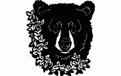 Bear Flower Free DXF File