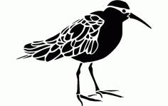 Beautiful Bird Free DXF File