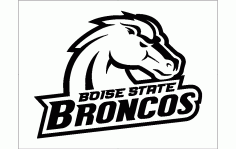 Boise State Broncos Logo Free DXF File