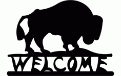 Buffalo Welcome Free DXF File