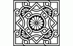 Byzantine Ornament Free DXF File